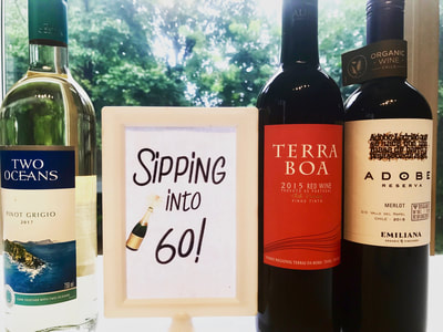 "Event Sign ""Sipping into 60"" - Birthday"